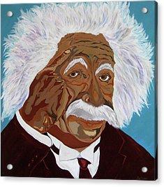 Einstein-relative Thinking Acrylic Print