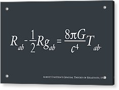 Einstein Theory Of Relativity Acrylic Print by Michael Tompsett
