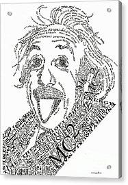 Einsteined. Acrylic Print