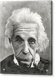 Einstein's Eyes Acrylic Print by Charles Vogan