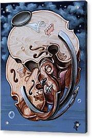 Einstein's Violin. Op.2763 Acrylic Print
