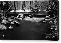 Eisbach In The Winter Acrylic Print by Hannes Cmarits