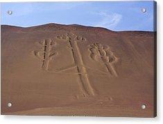 Acrylic Print featuring the photograph El Candelabro Peru by Aidan Moran