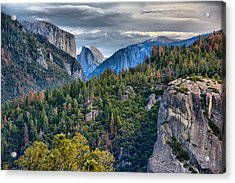 El Capitan And Half Dome Acrylic Print
