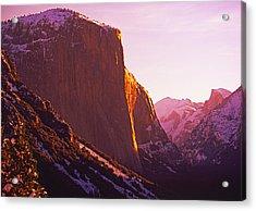El Capitan And Half Dome, Yosemite N.p. Acrylic Print