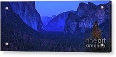 El Capitan Blue Hour Acrylic Print