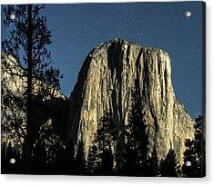 El Capitan By Starlight, Yosemite Valley, Yosemite Np, Ca Acrylic Print