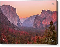 El Capitan Golden Hour Acrylic Print