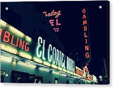 El Cortez Hotel At Night Acrylic Print