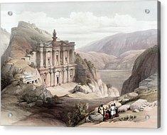 El Deir Petra 1839 Acrylic Print