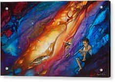 El Flautista Acrylic Print by Angel Ortiz