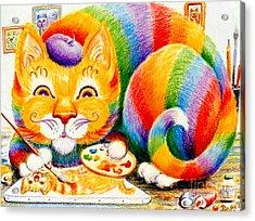 el Gato Artisto Acrylic Print by Dee Davis