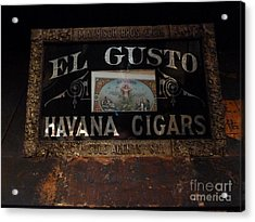 El Gusto Acrylic Print by Newel Hunter