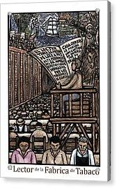 El Lector Acrylic Print by Ricardo Levins Morales
