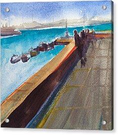 El Malecon, Havana Acrylic Print by Lynne Bolwell