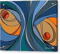el MariAbelon blue Acrylic Print