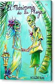 El Matrimonio De La Playa Acrylic Print
