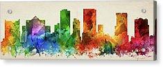 El Paso Skyline Panorama Ustxep-pa03 Acrylic Print