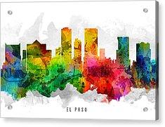El Paso Texas Cityscape 12 Acrylic Print