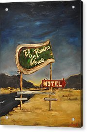 Acrylic Print featuring the painting El Rancho by Lindsay Frost