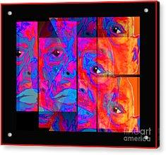 Acrylic Print featuring the digital art El Rey Del Arte Soy Yo by Loko Suederdiek
