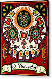 El Tlacuache - The Possum Acrylic Print by Mix Luera