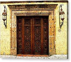 Elaborate Puerta Acrylic Print by Mexicolors Art Photography