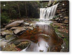 Elakala Falls In West Virginia Acrylic Print by Jetson Nguyen