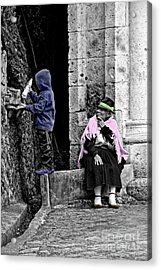 Acrylic Print featuring the photograph Elderly Beggar In Biblian II by Al Bourassa