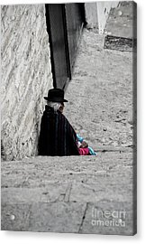 Elderly Beggar In Chordeleg Acrylic Print by Al Bourassa