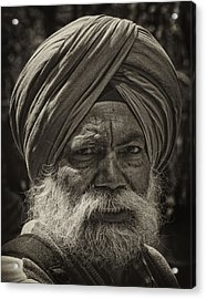 Elderly Sikh  Acrylic Print