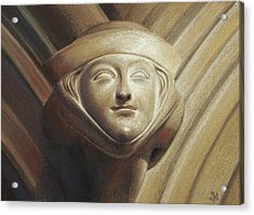 Acrylic Print featuring the pastel Eleanor Of Aquitaine by Joe Winkler