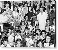 Eleanor Roosevelt And Children Acrylic Print