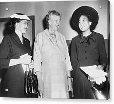 Eleanor Roosevelt, With Two African Acrylic Print by Everett