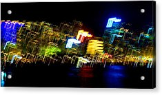 Electri City Acrylic Print by Roberto Alamino