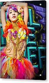 Electric Ballerina Acrylic Print