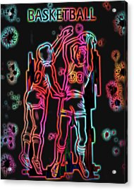Electric Basketball Poster Acrylic Print by Dan Sproul