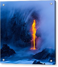 Electric Blue Acrylic Print by Miles Morgan