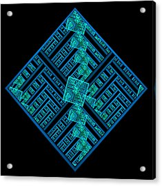 Electric Blue Squares Acrylic Print