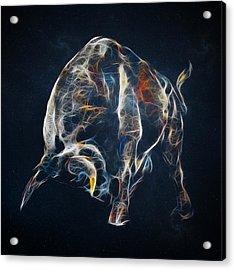 Electric Bull Acrylic Print by - BaluX -