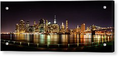 Electric City Acrylic Print by Az Jackson