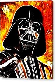 Electric Darth Vader Acrylic Print by Paul Van Scott