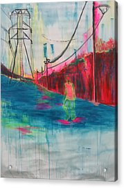 Electric Feel Acrylic Print by Moby Kane