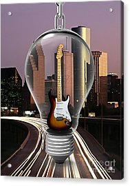 Electric Fender Stratocaster Collection Acrylic Print by Marvin Blaine