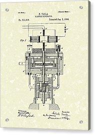 Electric Generator 1894 Patent Art Acrylic Print by Prior Art Design