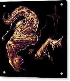 Electric Genie Acrylic Print by David Bollt