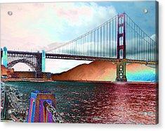 Electric Golden Gate Blue Acrylic Print
