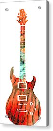 Electric Guitar 2 - Buy Colorful Abstract Musical Instrument Acrylic Print