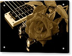 Electric Guitar And Rose Acrylic Print