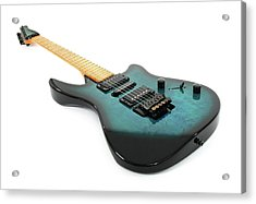 Electric Guitar On White Background Acrylic Print